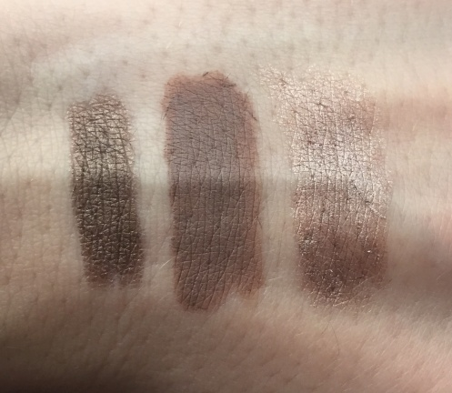 L'oréal Icy Cappuccino & Rimmel Trespassing Taupe and Bluffing Swatches
